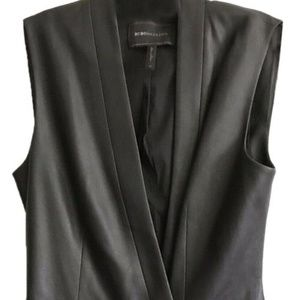BCBG Black Wrap Vest Dress Msrp $290